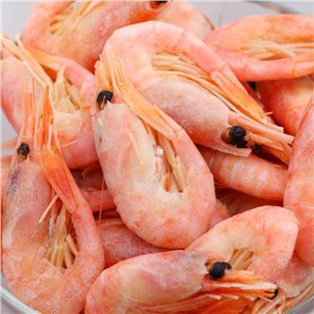加拿大进口冷海野生北极虾500g*2袋  120+/kg