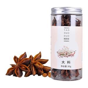 姚朵朵大料(八角)80g 颗粒丰满,朵型完整,罐装易于储存
